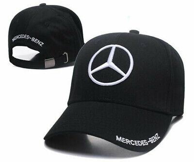 New MERCEDES BENZ² Logo AMG Cap Sport Baseball Hat outdoor Adjustable White 3