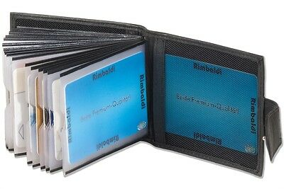 Kartenetui Kreditkartenetui Visitenkartenetui für 20 Karten schwarz Leder Neu