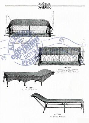 Sheboygan Fiber Furniture 1937 CATALOG Wicker Rattan Upholstered Chairs + Settee 5