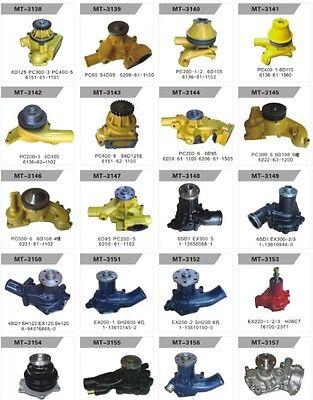 FITS Komatsu D20A-6 D21A-6 D20A-7 D21A-7 WATER PUMP 4D95S DOZER 6204-61-1304,NEW 3