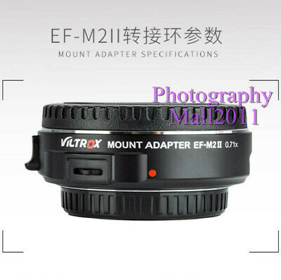 Viltrox EF-M2 II Auto Focus Adapter Speed Booster for Canon EF Lens to MFT M4/3 4
