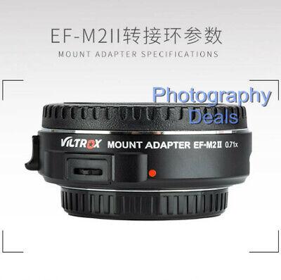 Viltrox EF-M2 II AF Adapter Focal Reducer Booster For Canon EF Lens to M43 MFT 5