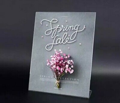 T-SIGN Acrylic Sign Holder 8.5 x 11 Inches Slant Back, Table Top Clear Display 1 6