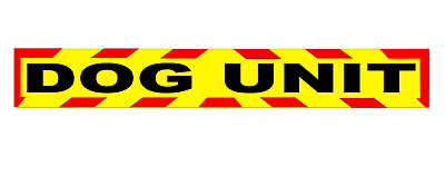 DOG UNIT K9 MAGNET MAGNETIC SECURITY HANDLER SIA PATROL CHEVRON DAYGLO 620mm 3