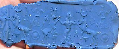 Zurqieh -Af1959- Ancient Holy Land. Stunning Rock Crystal Cylinder Seal. 1050 -