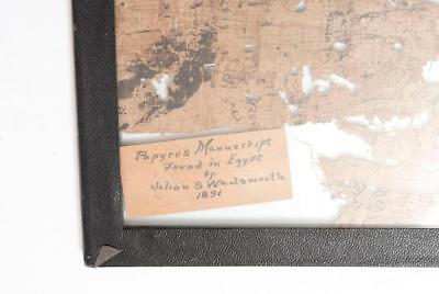 THREE FRAMED PAPYRUS MANUSCRIPTS Lot 69