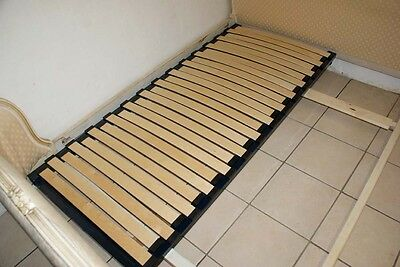 Adjustable SLATTED Bed Base French Demi Corbeille Upholstered Double Beds 2