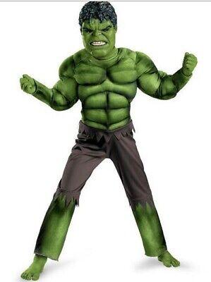 Deluxe Incredible Hulk Age 3-8 Boys Fancy Dress Kids Marvel Avengers Costume New 3