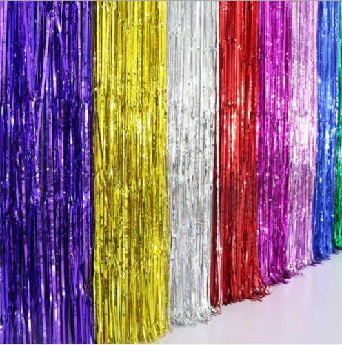 2M-3M Foil Fringe Tinsel Shimmer Curtain Door Wedding Birthday Party DECORATIONS 10