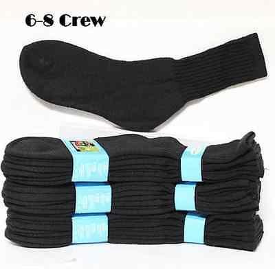 Kids Cotton Socks Lot Crew Ankle Low Cut 2-3 4-6 6-8 Boy's Girl's White Black 6
