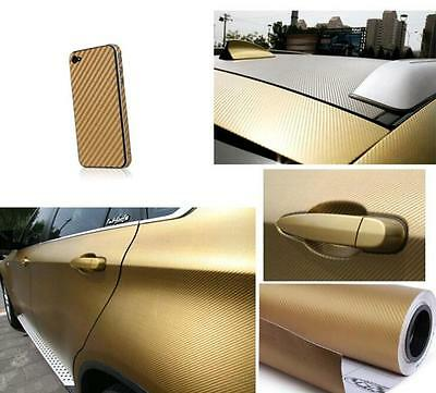 "12""x50"" 3D Texture Carbon Fiber Wrap Vinyl Decal Car Sticker Sheet 30x127cm 4"