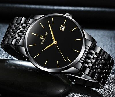 Men's Waterproof Military Sport Date Analog Quartz Wrist Watch Business Watches 3