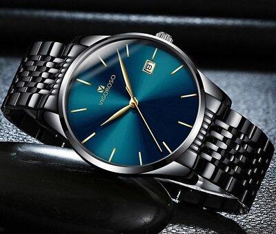 Men's Waterproof Military Sport Date Analog Quartz Wrist Watch Business Watches 2