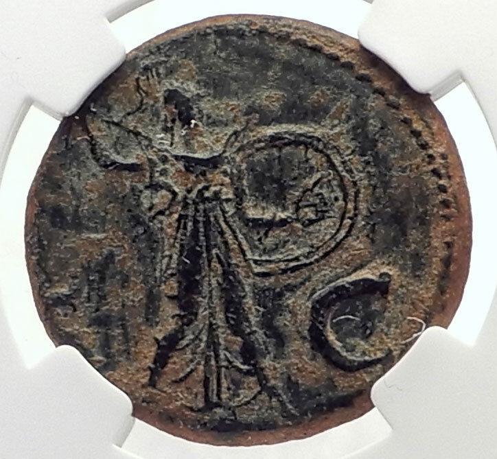 CLAUDIUS Authentic Ancient 41AD Genuine Original Roman Coin MINERVA NGC i71723 2