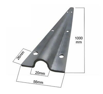"Heavy U-Track 12g Galvanized Steel Sliding Gate Door Guide Rail Roller 2.2"" Wide"