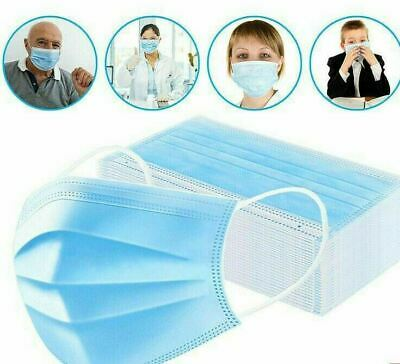 50 PCS Face Mask Medical Surgical Dental Disposable 3-Ply Earloop Mouth Cover 2