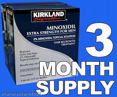 Kirkland Minoxidil 5% Extra Strength Men Hair Regrowth Solution 3 Month Supply 2