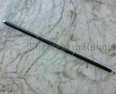 Jaguar Walking Stick Solid Brass Nickle Finish Handle Black Stick Fordable Cane 6