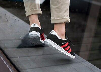 new concept 01114 0e864 ... 9 Adidas Hamburg ++++ RARE++++ 12 BLACK SUEDE  RED STRIPE NEW spezial  samba