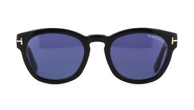 79f8d97e6d6 TOM FORD BRYAN-02 FT 0590 shiny black blue (01V G) Sunglasses ...