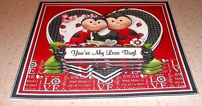 Handmade greeting card 3d valentines day with ladybugs 599 1 of 2 handmade greeting card 3d valentines day with ladybugs m4hsunfo
