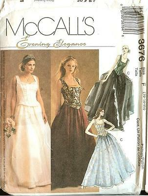 OOP MCCALLS SEWING Pattern Misses Wedding Prom Party Formal Dress ...