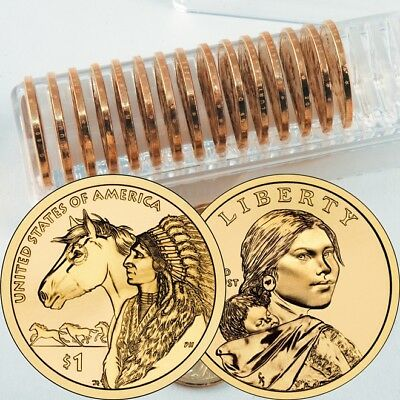 2012 P+D Set Native American Indian Sacagawea One Dollar Coins US Mint Rolls