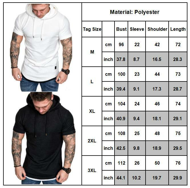 Gym Men Sleeveless Vests Pullover Hoody Hooded Tank Tops Muscle Clothes T-Shirts 2