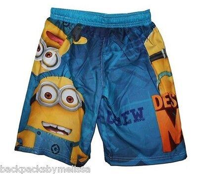 6367d4a3e1 ... Despicable Me 2 MINION Swim Trunks Board Shorts Boy's 4/5 NeW UV50  Swimtrunks 2
