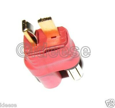 No Wires Connector 5.5MM Female Male T-Plug Adapter Deans Type Turnigy HXT USA