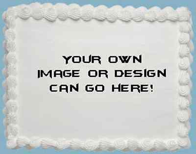 Your Own Custom Design Personalised Premium A4 ICING Cake Topper 3