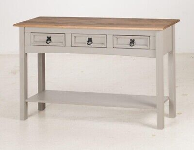 Corona Console Table 3 Drawer Grey Wax by Mercers Furniture® 5