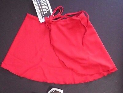 NWT Main Street Dance Ballet Wrap Skirt Crepe light Pink Adult Child