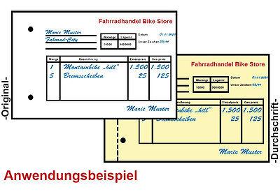 weiß//gelb 250 selbstdurchschreibende Formularsätze 2-fach DIN-A5 für Laser/&Ink