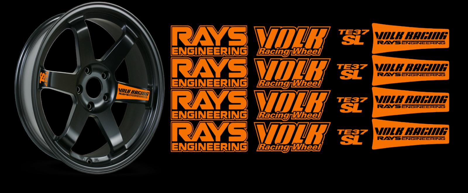JDM Reflective RAYs VOLK Racing TE37SL Wheel 16 sticker decal Drift 12
