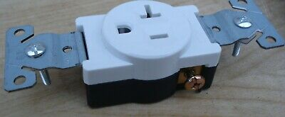 10pcs Single Round Receptacle 20 Amp 20A 125V AC Outlet 2 Pole 3 Wire or 15A LOT 6
