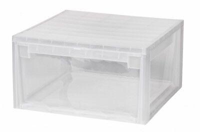 Kreher XL Schubladenbox Schublade Aufbewahrungsbox Kommode Weiß Box erweiterbar
