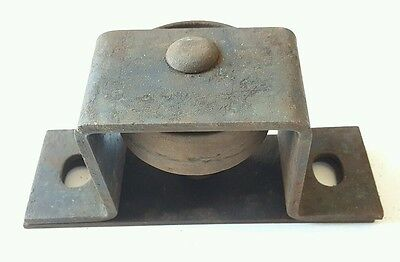 Antique Vintage Heavy Duty Industrial Cast Iron Factory Bracketed Wheels 3