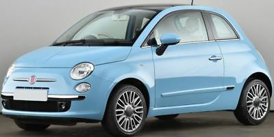 For Fiat 500 500c 2007-On Left passenger side Aspheric wing mirror glass