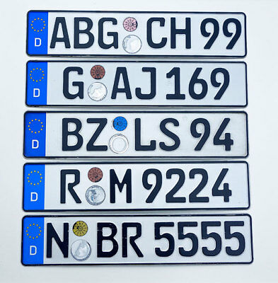 ORIGINAL German License Plate Toyota Audi BMW Mercedes Benz Porsche VW Mini Fiat