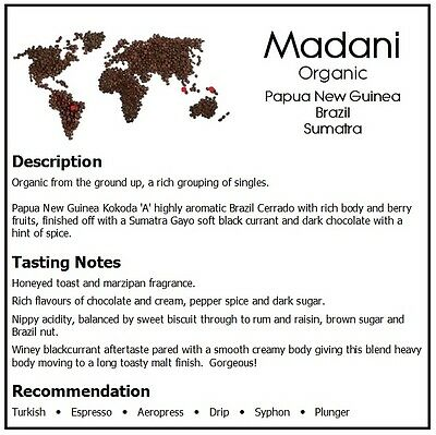 490g DONGOLA MADANI Organic Fresh Roasted Coffee Special Blend Whole Bean 2