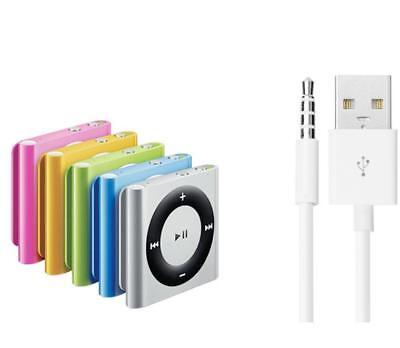 USB Data Sync Charger Cable Adapter 3.5mm for Apple iPod Shuffle 3/4/5/6/7 4