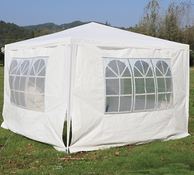 Gazebo 3x3M Heavy Duty Stronger Waterproof Fully Garden Canopy Tent With 4 Sides 3