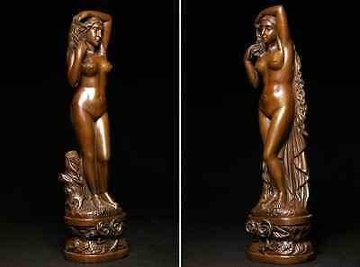 Antique Beautiful Naked Woman / Bronze /  size w12 h44 [ cm ] 3.36kg 2
