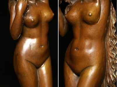 Antique Beautiful Naked Woman / Bronze /  size w12 h44 [ cm ] 3.36kg