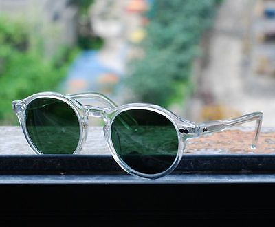 f3705209a18 ... Retro Vintage Johnny Depp sunglasses round crystal frame green glass  lens unisex 2