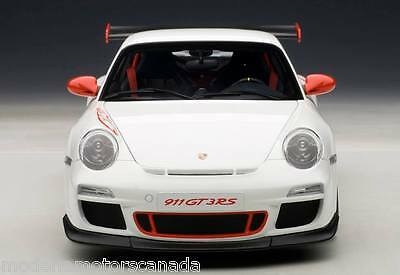 PORSCHE CARRERA GT3 RS WHITE RED STRIPES 1:18 by AUTOART 78143 BRAND NEW IN  BOX