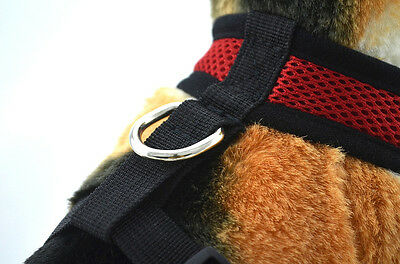Soft Mesh Fabric Dog Puppy Pet Adjustable Harness   Lead Leash with Clip 3