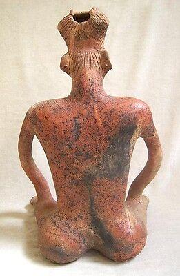 MONUMENTAL Pre-Columbian NAYARIT SEATED MALE FIGURE 3