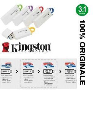 Pendrive Kingston G4 Chiavetta Usb 8Gb 16Gb 32Gb 64Gb 128Gb Memoria 3.1 3.0 2.0 2